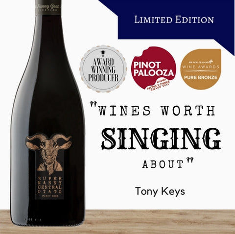 Super Nanny Limited Edition Premium Pinot Noir red wine made in NZ. Available online at great value Pop up Wine in Singapore. We deliver fast.
