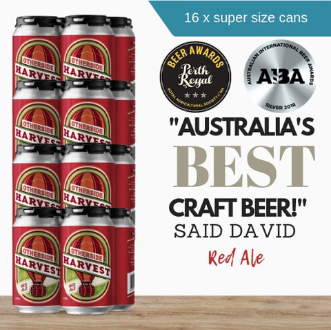 16x generous environmental-friendly 375ml award-winning Harvest Red Ale by Australia's Otherside Brewing brought to you by Pop Up Wine Singapore.  Fast same day delivery Order online now.