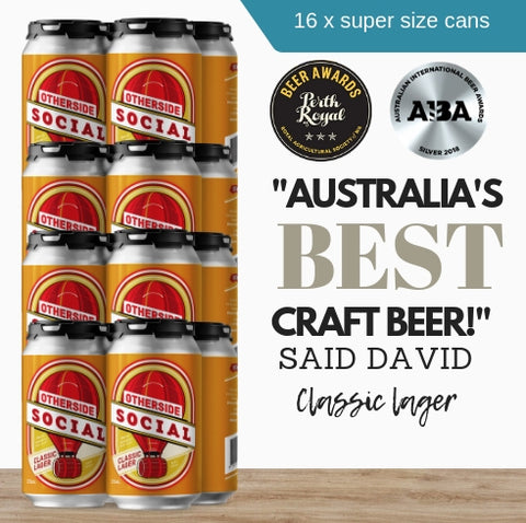 Get 16 extra large cans of craft beer now. Buy this classic lager today. Only from Pop Up Wine Singapore.  Fast same day delivery. Order online now.