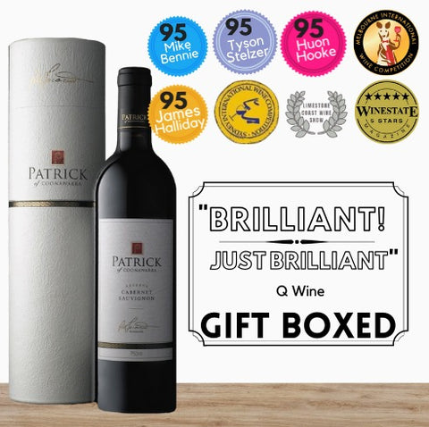 A gift of highly acclaimed collectable red wine. Buy this exclusive Grande Reserve Cabernet Sauvignon from the famous Coonawarra region of South Australia Buy online from Singapore's leading purveyor of premium wine store, Pop Up Wine. Same day wine delivery. Free wine delivery also available. Buy today and have this wine delivered today.