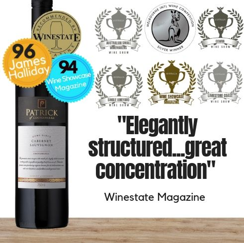One of Australia's leading wine Patrick Estate Home Block Cabernet Sauvignon 2013 by Patrick Tocaciu of Coonawarra South Australia. Buy wine online Singapore's low price store Pop Up Wine. Free delivery for 2 dozen.