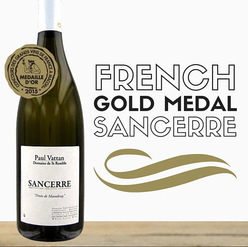 Paul Vattan Gold medal winning French Sancerre (Sauvignon Blanc) white wine 2014. Available low price online  from Pop Up Wine Singapore. Delivering same day.