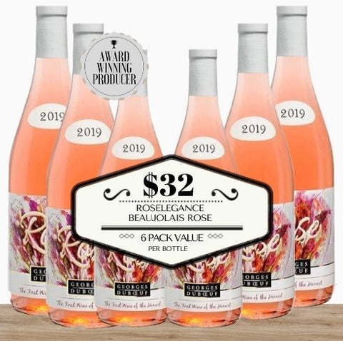 Roselegance Beaujolais Rose 2019 - 6 Pack Value