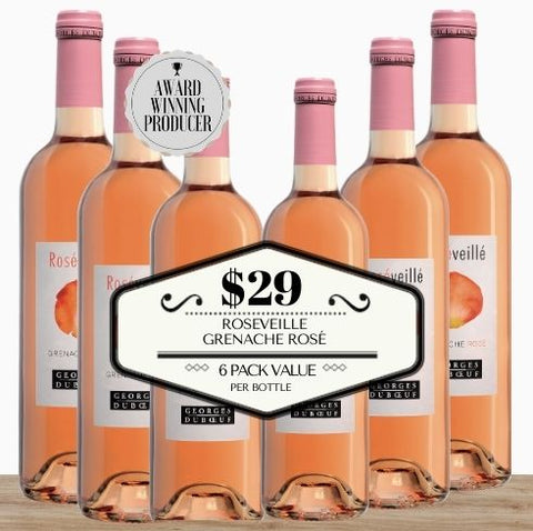 Roseveille Grenache Rosé 2019 - 6 Pack Value