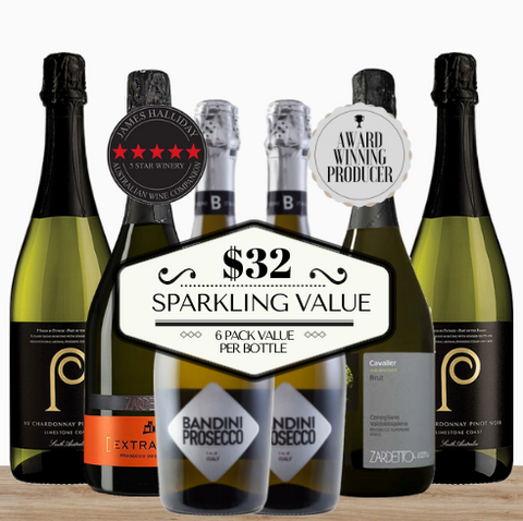 Mixed 6 pack value doesn't get any better than this. Six highly rated and acclaimed sparkling wine for under $32 a bottle. All from the world's best wine growing regions. Buy this wine box from Pop Up Wine. contactless Delivered fast today. Singapore's best online wine store.