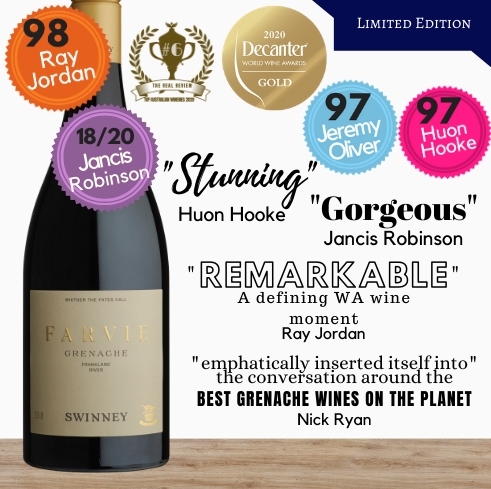Buy this 98/100 rated Grenache, claimed by some wine critics as amongst the best Grenache in the world. This limited edition red wine is only available from Singapore's favourite online wine shop, Pop Up Wine. Same-day and free delivery available. We offer contactless delivery. Free delivery for any 24 bottles of wine. Get this exceptional fine Australian red wine delivered today. We're delivering wine today and every day, including public holidays and Sundays.