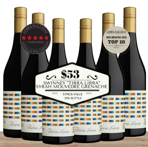 "Buy this 6 pack of Swinney ""Tirra Lirra"" Syrah Mouvedre Grenache from Pop Up Wine, Singapore's favourite online wine store. Buy in bulk and save. The perfect box of champagne for events, parties, weddings, and gifts. Same-day wine and champagne delivery today to your door."
