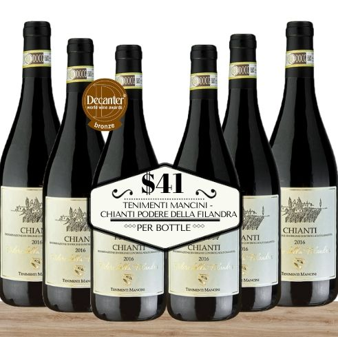 Six well-rated, great value Tenimenti Mancini - Chianti Podere Della Filandra from Italy, one of the most premium wineries of Italy.