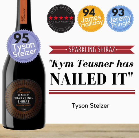 Highly rated Australian Sparkling Shiraz.  Premium wine. Same day delivery in Singapore. Barossa Valley Sparkling Shiraz available from Pop Up Wine Singapore.