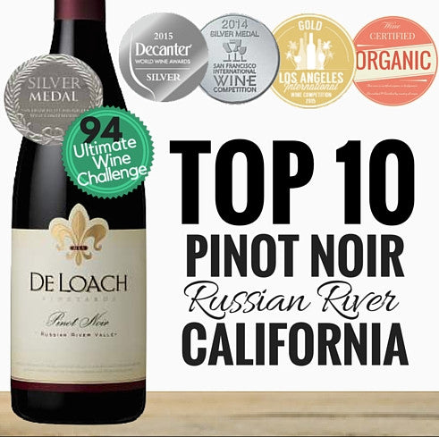 Premium Pinot Noir from Russian River California. Same day delivery. Free delivery for any two dozen