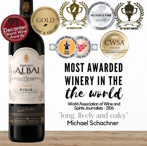Premium Castillo de Albai Rioja Reserva 2011 from Rioja, Spain  Buy online from Singapore's favourite wine store, Pop Up Wine. Same day and free delivery available. We offer contactless delivery & free delivery for any 24 bottles.Buy this and get this award-winning Spanish red wine delivered today. We deliver wine 7 days a week, even on Sundays.