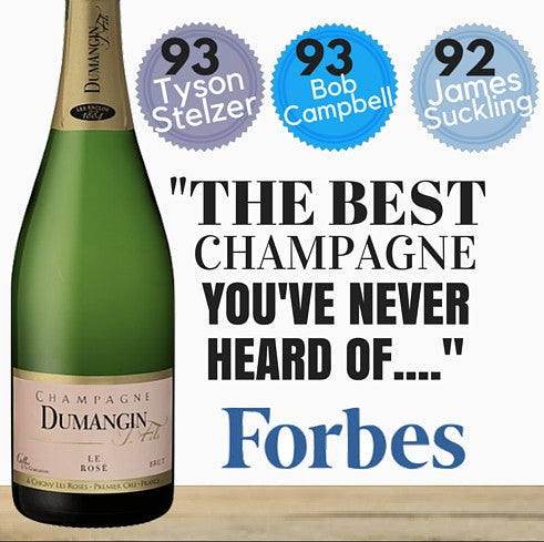 "Forbes Magazine ~ ""The Best champagne you've never heard of."" Decanter (UK), Steven Spurrier ~ Best Sparkling Wine Tyson Stelzer, Champagne Expert and Author of"