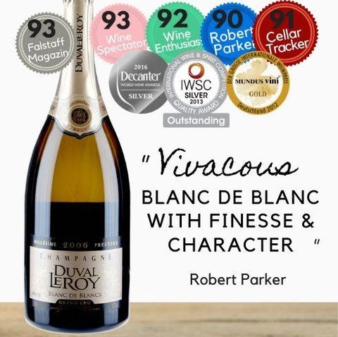 From the only Champagne producer to be ranked by Wine Spectator in its top 100 wines, Duval Leroy. But online and get same day wine delivery Singapore wide from Pop Up Wine.