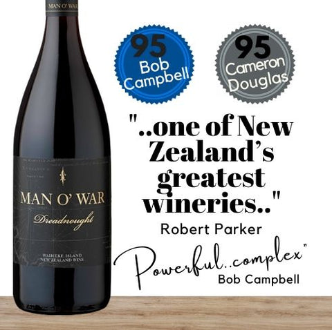 Robert Parker, the world's greatest wine critic says Man O' War winery is one of New Zealand's best. Buy their outstanding Syrah red wine online today from Pop Up Wine, Singapore. An online wine retailer of fine wines, Free wine delivery available every day of the year. Same-day wine delivery available everyday including Sundays, Saturdays and public holidays.