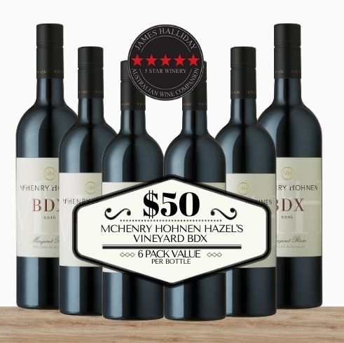 Buy this 6 pack of McHenry Hohnen Hazel's Vineyard BDX from Pop Up Wine, Singapore's favourite online wine store. Buy in bulk and save. Perfect box of champagne for events, parties, weddings, and gifts. Same-day wine and champagne delivery today to your door.