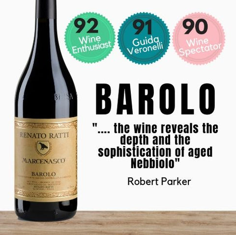 Highly rated Nebbiolo red wine from the Barolo region of Italy. Available online from Pop Up Wine. Same day delivery & free for over 2 dozen bottles.