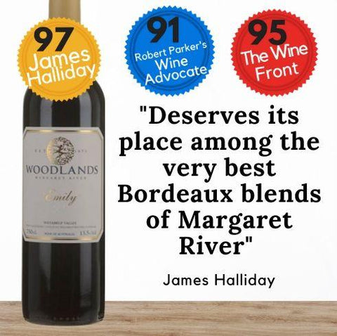 Woodlands Emily Special Reserve 2015 from Margaret River, Western Australia. Buy online from Singapore's favourite wine store, Pop Up Wine. Same day and free delivery available. We offer contactless delivery & free delivery for any 24 bottles. Buy this and get this award-winning Australian red wine delivered today. We deliver wine 7 days a week, even on Sundays.