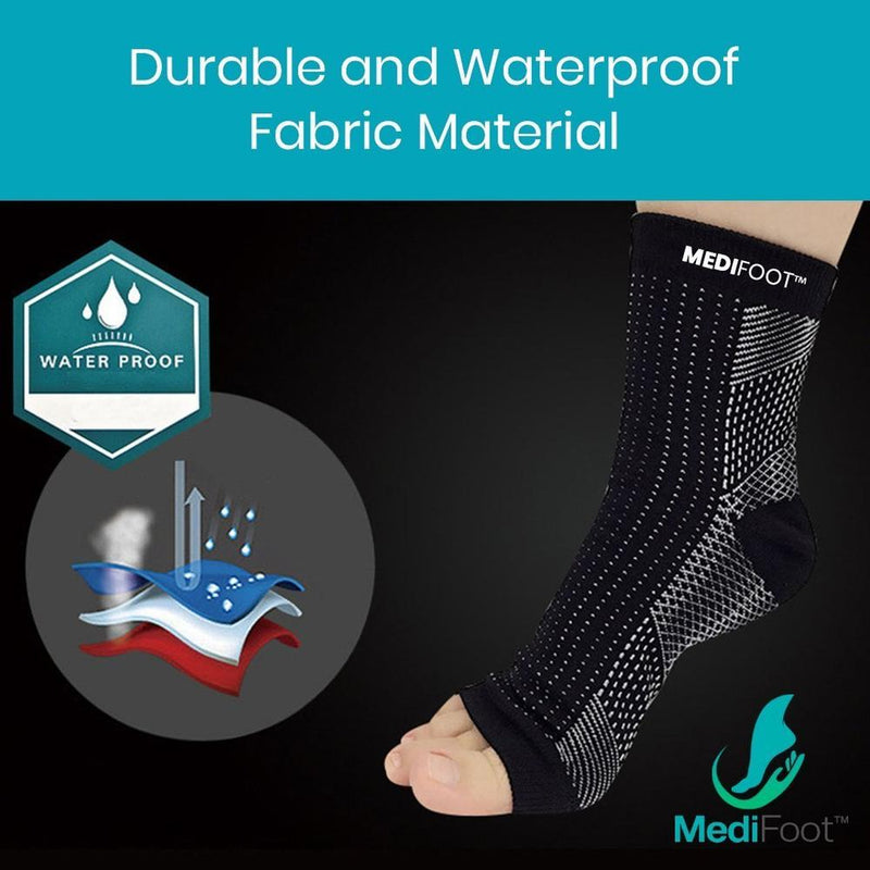 KING HOME FITNESS™ Copper Infused Magnetic Foot Support Compression Socks