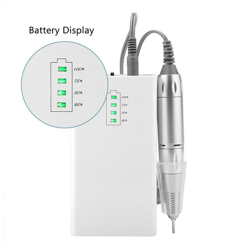 Nail Drill Rechargeable Battery Indicator