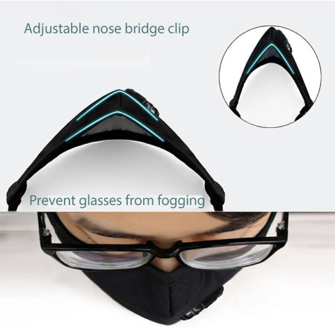 Face Mask is designed to prevent glasses from fogging up