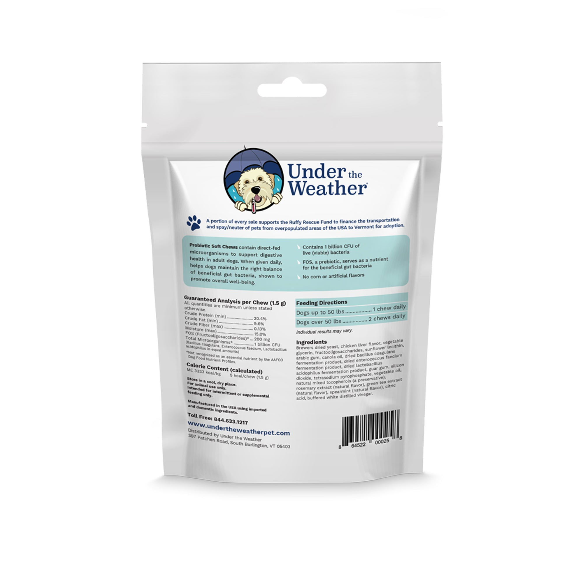 Probiotic Soft Chews For Dogs - 6 Pack