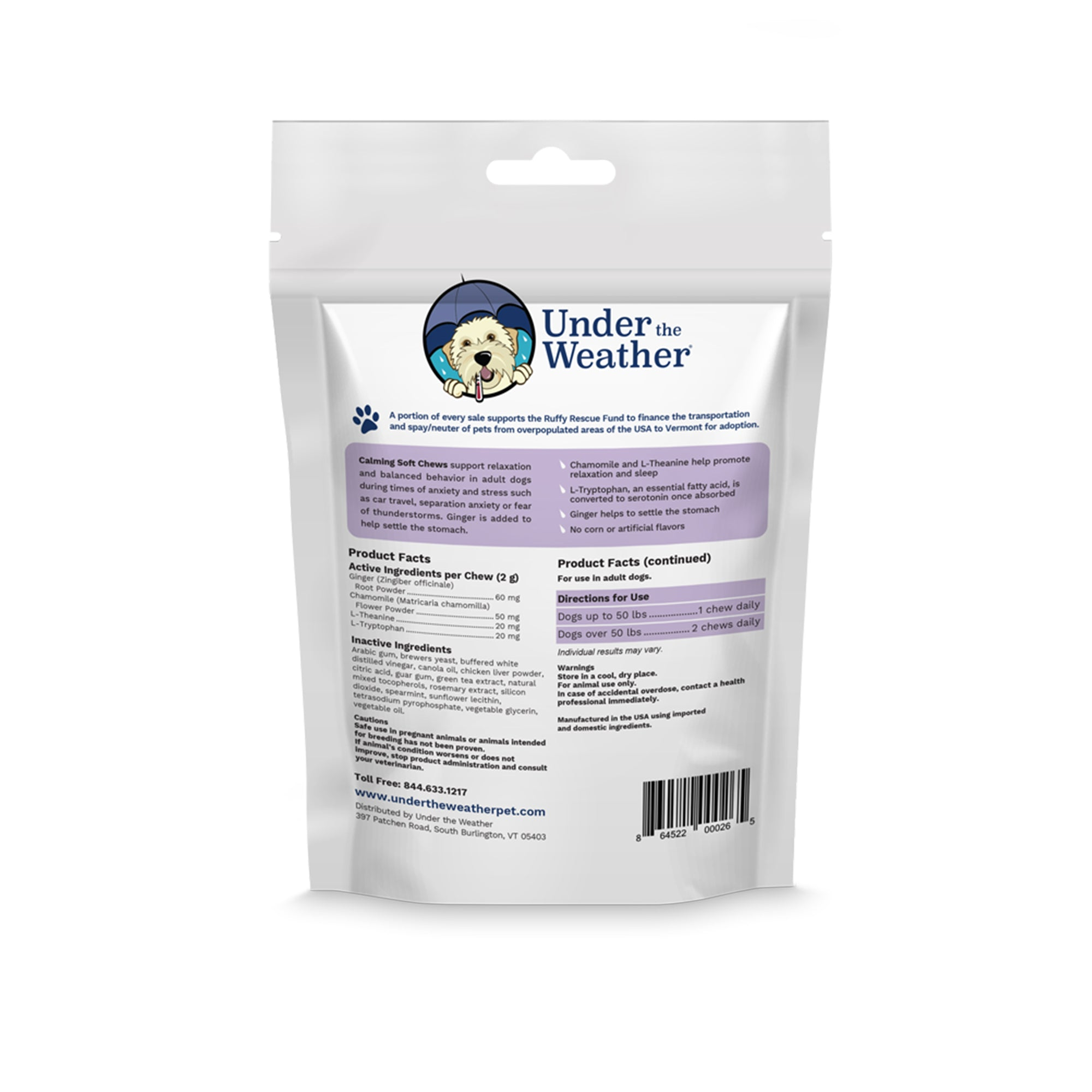 Calming Soft Chews For Dogs - 6 Pack