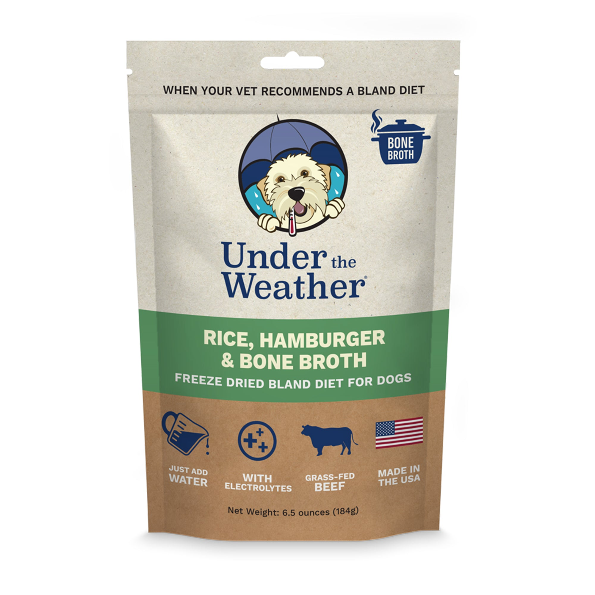Hamburger, Rice, & Bone Broth Bland Diet For Dogs