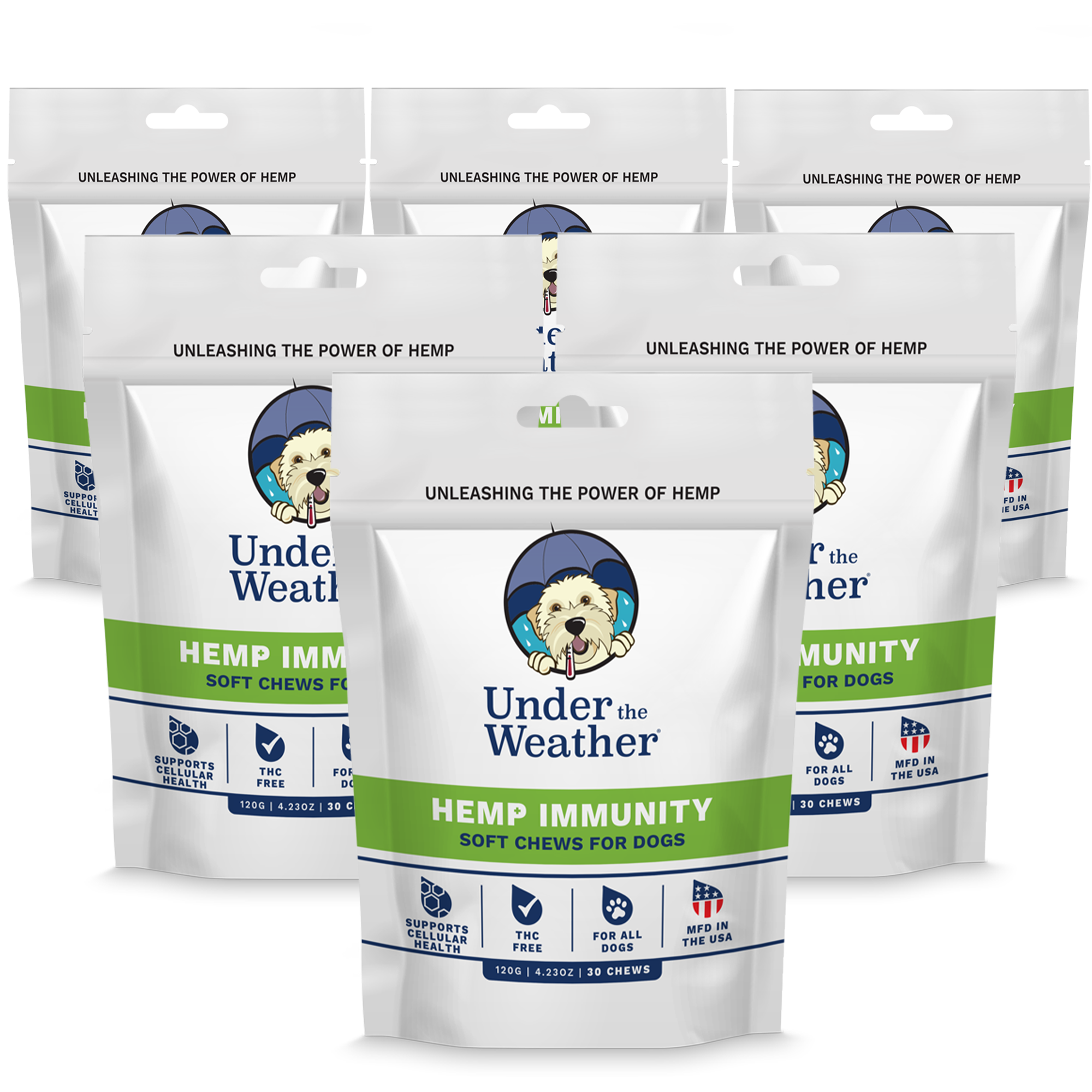 Hemp Immunity Soft Chews For Dogs - 6 Pack
