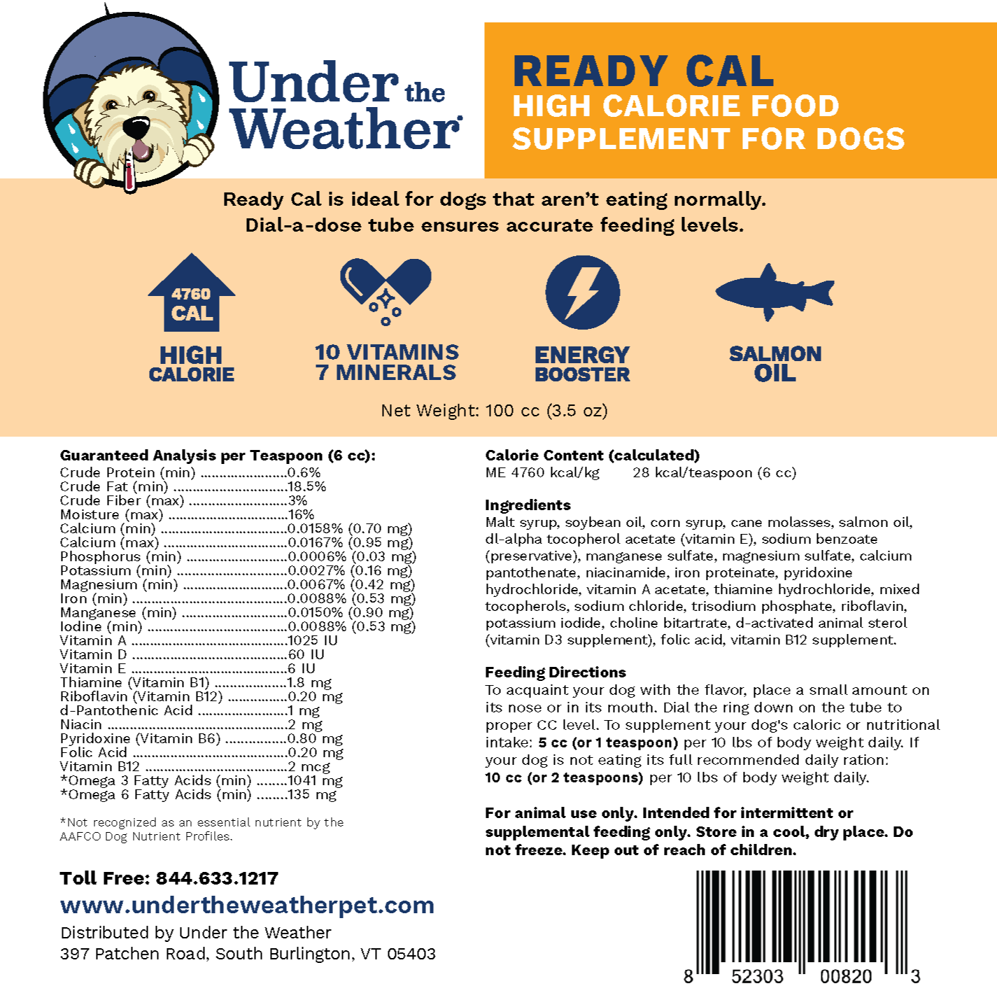 Ready Cal High-Calorie Supplement For Dogs