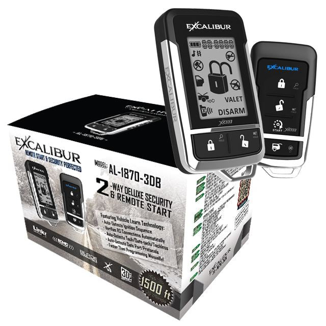 Excalibur AL-1870-3DB 2-way LCD Remote Start & Security - Shark Electronics