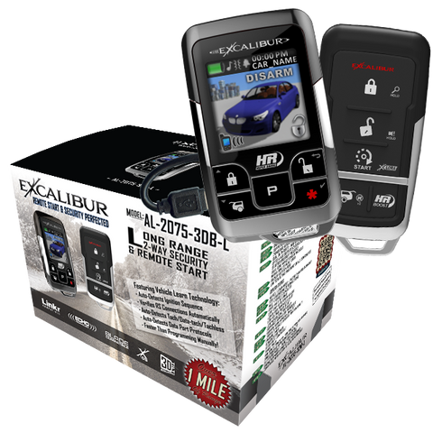 Excalibur AL-2075-3DB-L 2-way LCD Remote Start & Security - Shark Electronics