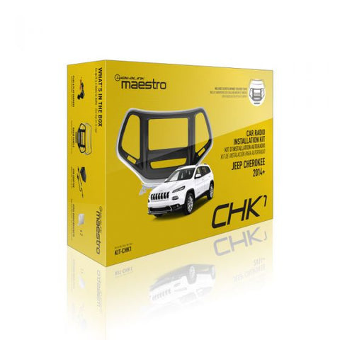 Maestro KIT-CHK1 Dash Kit and T-Harness for 2014 and up Jeep Cherokee - Shark Electronics