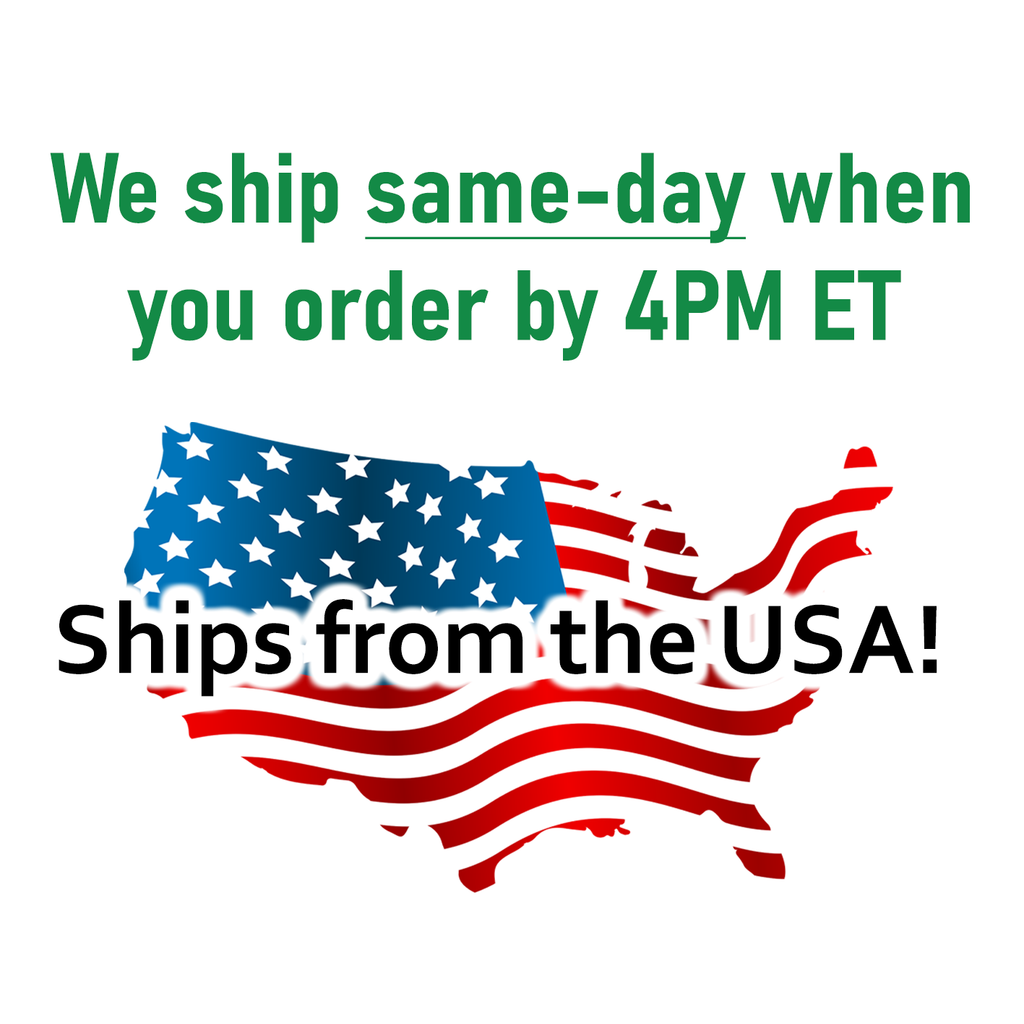 We ship same-day when you order by 4PM ET