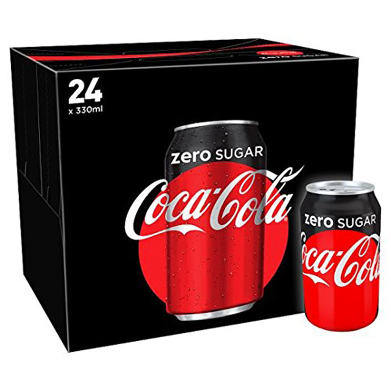 Zero Coke Cans 24 x 330ml
