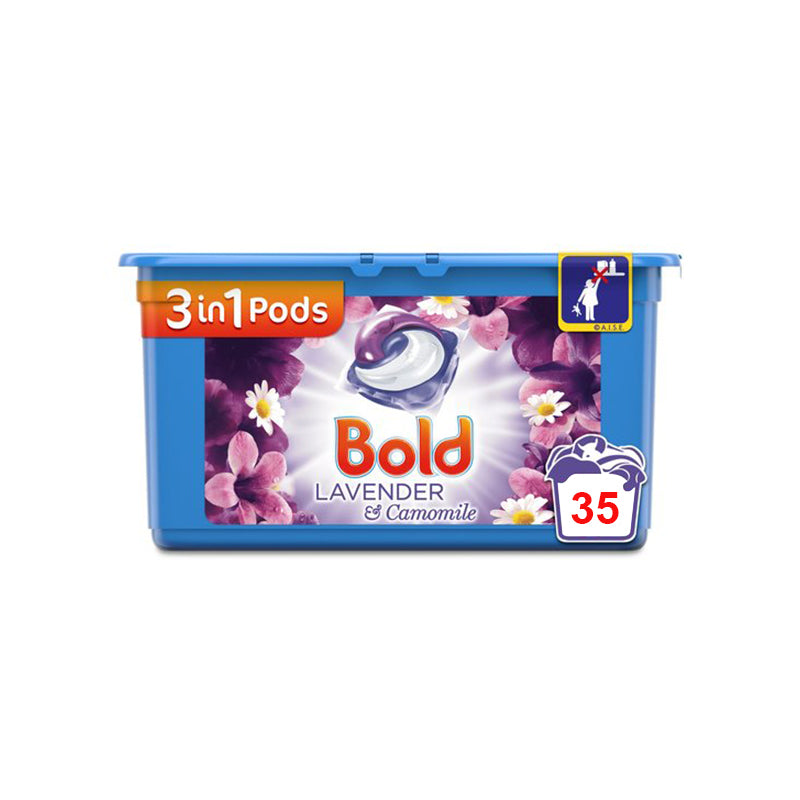 Bold 3In1 Liquid Tabs Lavender & Camomile 38 Washes