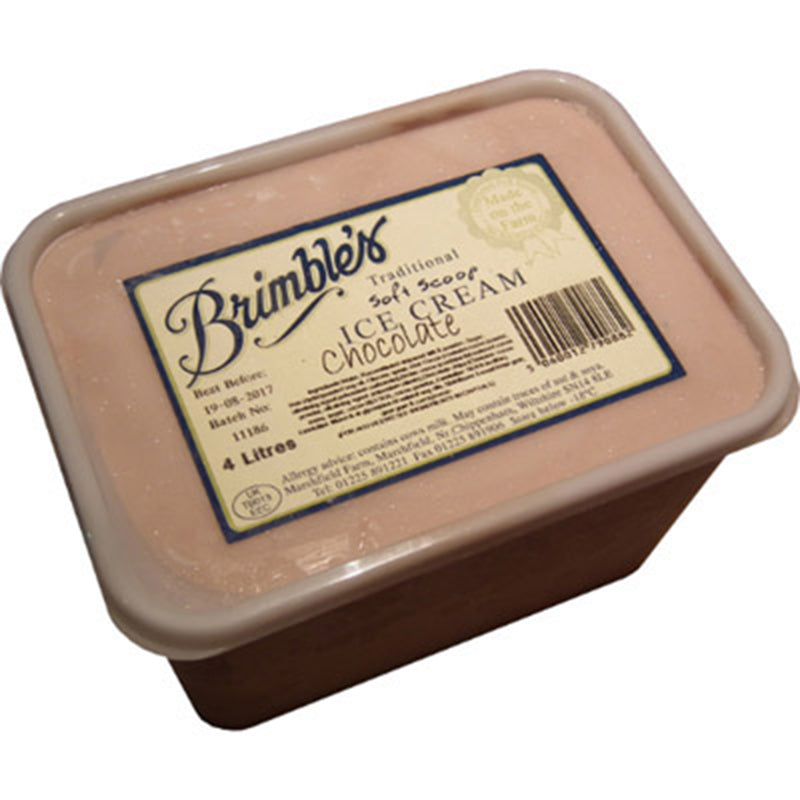 Brimbles Chocolate Ice Cream 4ltr