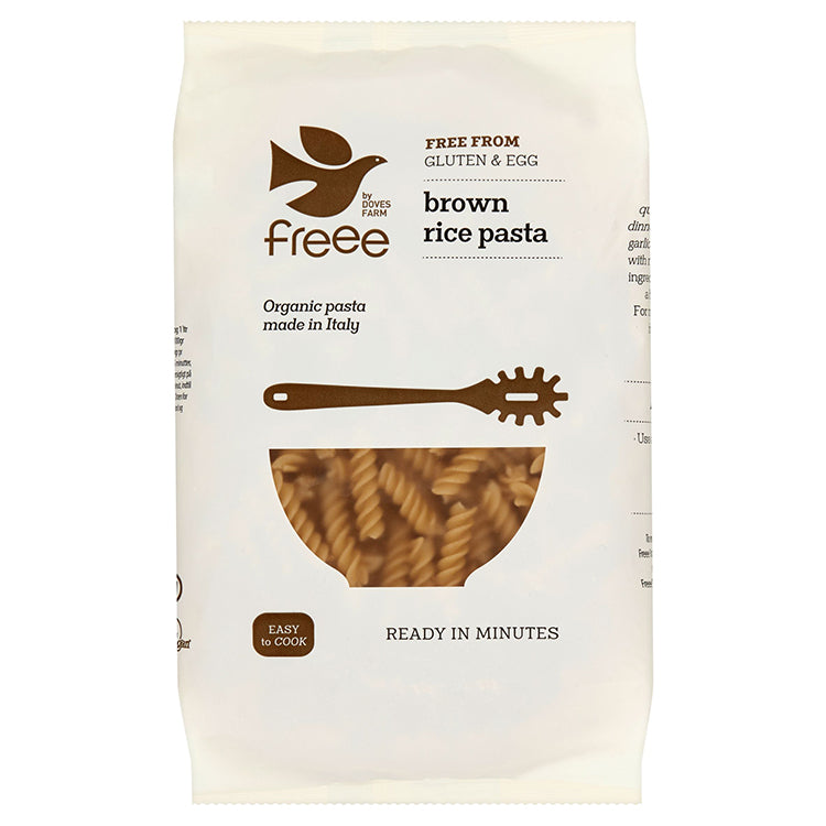 Doves Freee Brown Rice Fusilli Pasta, Organic & Gluten Free 500g