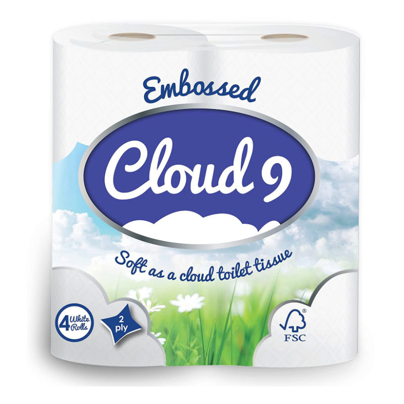 Cloud 9 Toilet Roll 2ply 1 x 4