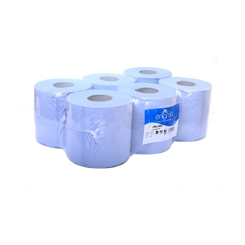 2 Ply Blue Centre Feed Roll 6 x 180mm x 150m