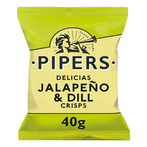 Pipers Jalapeno & Dill Crisps 24 x 40g