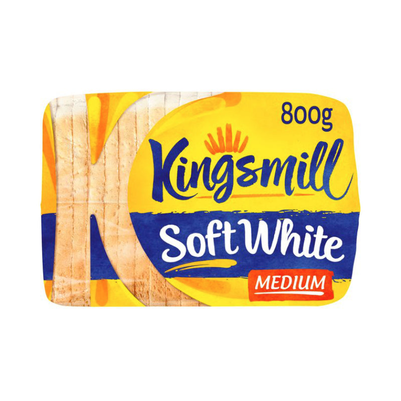 Kingsmill Soft White Medium Bread 800G