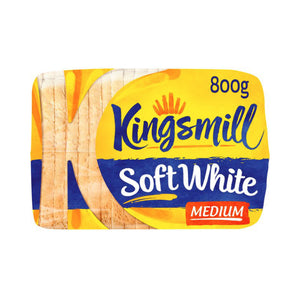 Load image into Gallery viewer, Kingsmill Soft White Medium Bread 800G