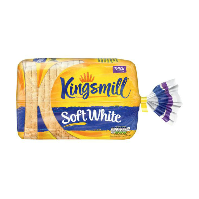 Kingsmill Soft White Thick Bread 800G