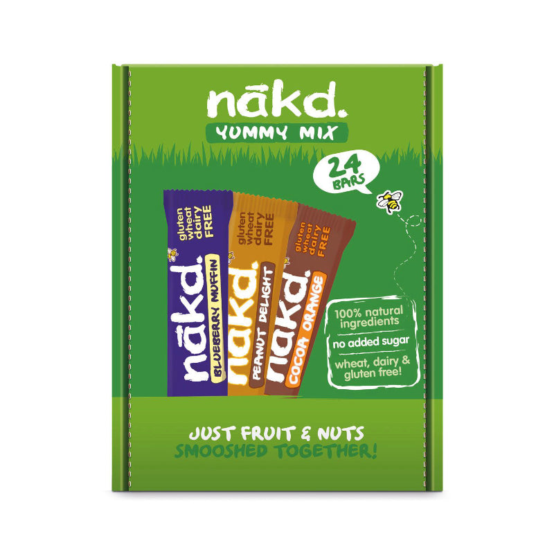 Nakd Mixed Yummy Bars 24 x 35g