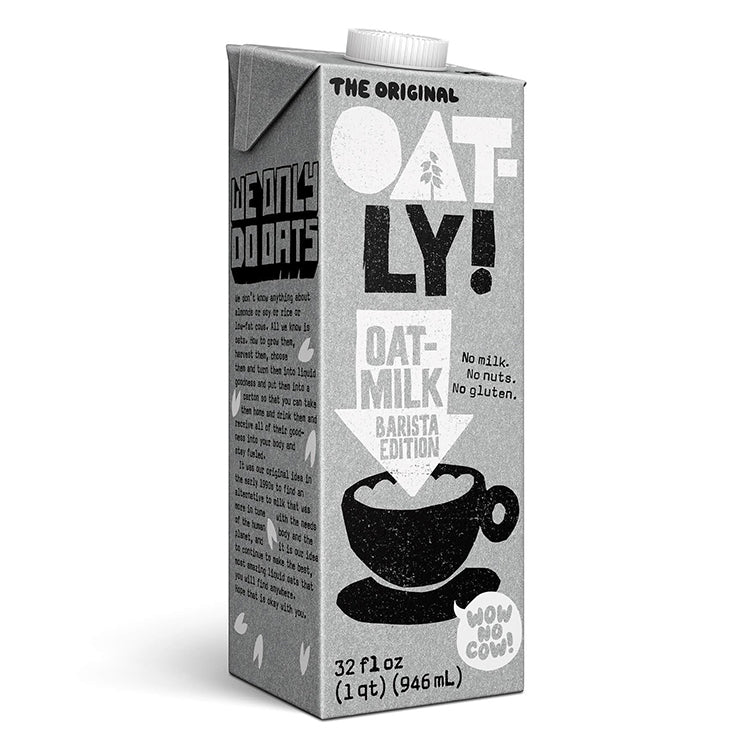Oatly Foamable Barista Oat Milk 1ltr