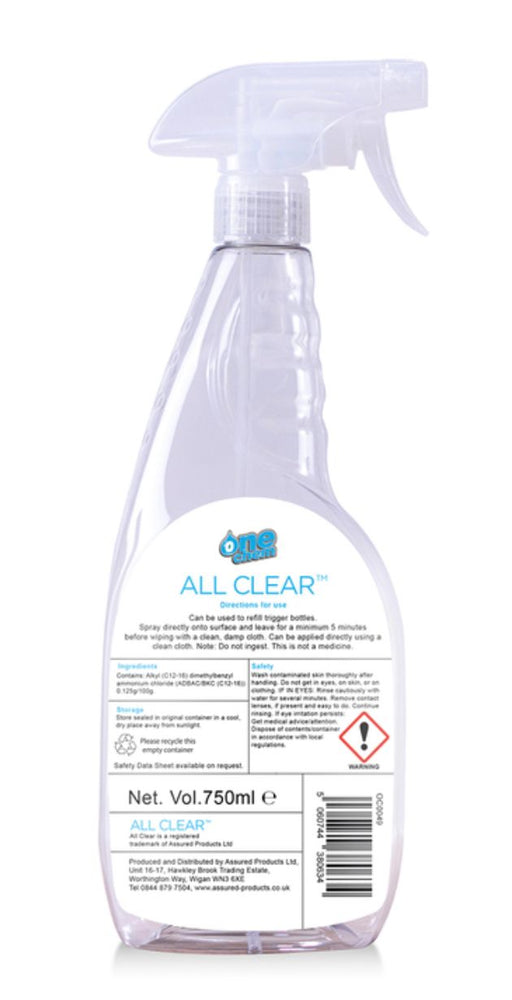 One Chem Anti-Viral Disinfectant Spray, 1 x 750ml