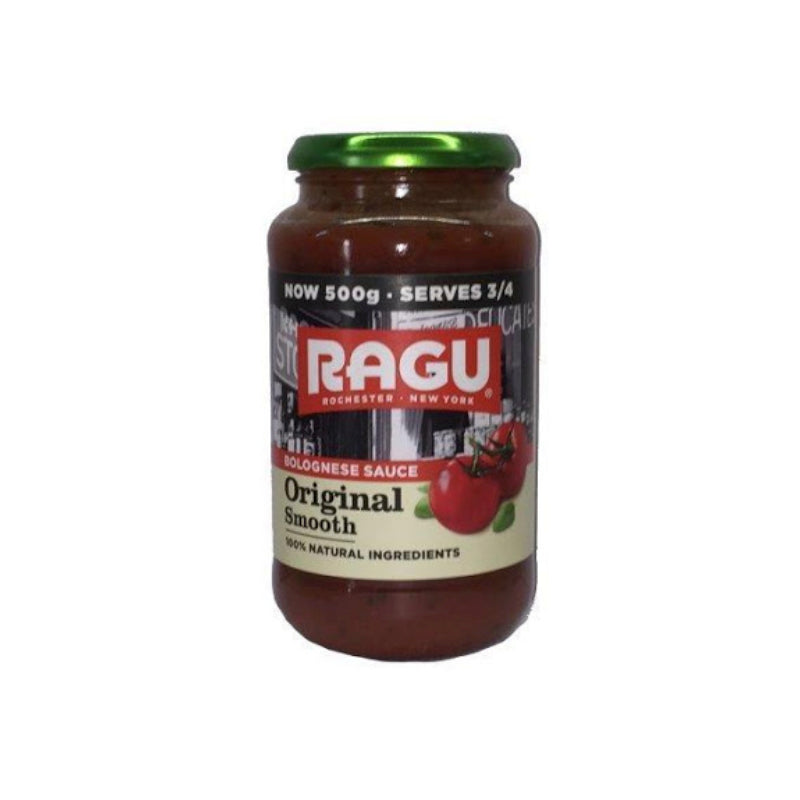 Ragu Original Smooth Tomato Sauce for Bolognese 500g