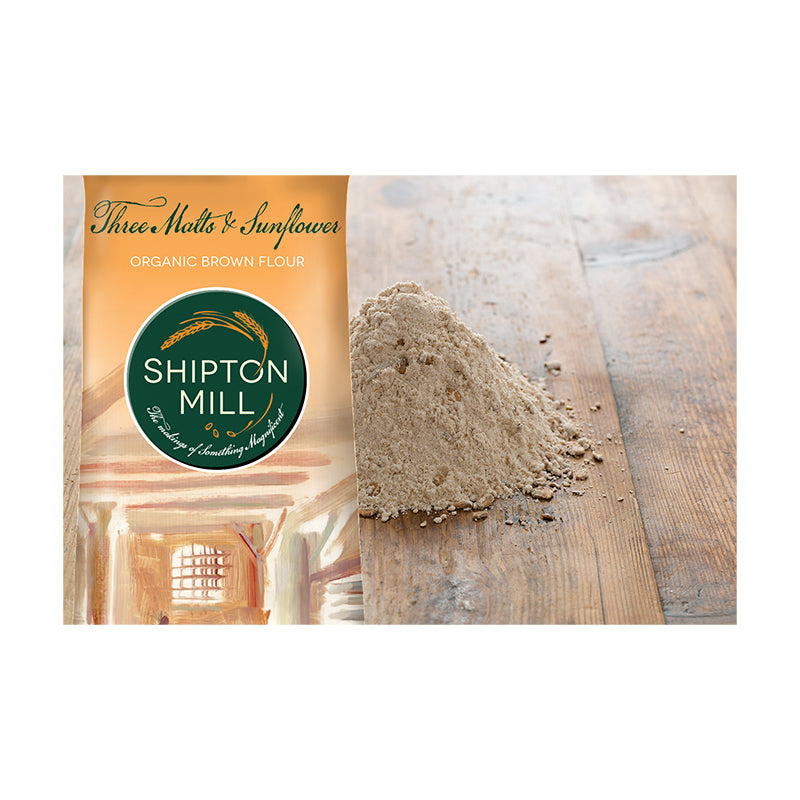 Load image into Gallery viewer, Shipton Mill - Organic 3 Malts & Sunflower Brown Bread Flour 1kg