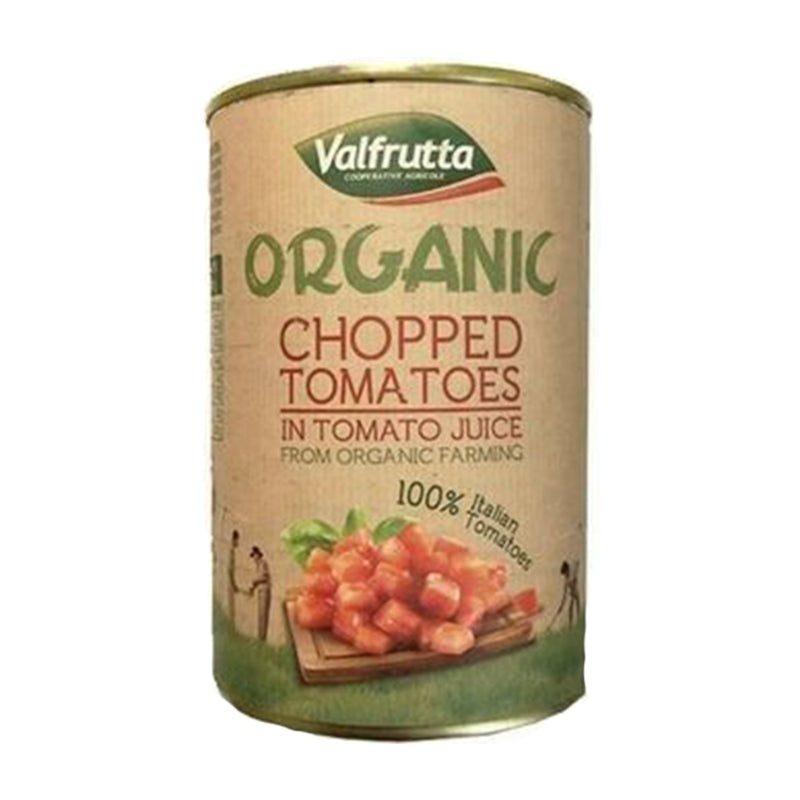 Load image into Gallery viewer, Valfrutta Tinned Organic Chopped Tomatoes 400g