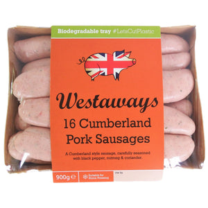 Load image into Gallery viewer, Westaway Frozen Sausages - Cumberland Pork 8's 1 x 80